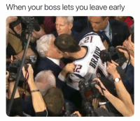 Funny, Lmao, and Boss: When your boss lets you leave early  2 Lmao bruhh
