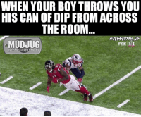 Memes, 🤖, and Portable: WHEN YOUR BOY THROWS YOU  HIS CAN OF DIPFROM ACROSS  THE ROOM  MUDJUG  FOX II  portable spittoons 😂 MudJug dip30 packdipspit sb51 photo by @jesseryan.us