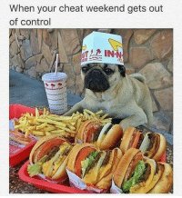Gym, Control, and Weekend: When your cheat weekend gets out  of control I'll have one of everything.