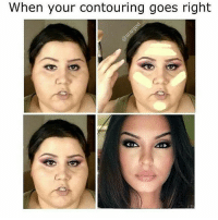 When your contouring goes right howyoufeel makeupmeme makeuphumor noharmdone nhd