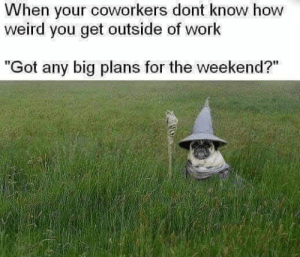 When your coworkers don't know how weird you get outside of work #meme #spiritual #magick: When your coworkers don't know how weird you get outside of work #meme #spiritual #magick