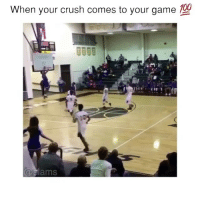 Anaconda, Crush, and Memes: When your crush comes to your game  100  TH  lams He broke the backboard😳🔥 - Follow me @thrillingsports for more! via @slamsig