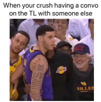 Basketball, Crush, and Nba: When your crush having a convo  on the TL with someone else  AKER  ULLE  TooTaALL Gotta make sure 😂 (Via ‪ejay18_-Twitter)