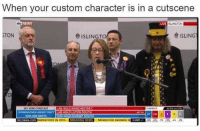 "News, Party, and Video Games: When your custom character is in a cutscene  NEWS  ISLINGTON  TONe  きISLING""  Ot  SKY NEWS FORECAST  LAB HOLD MANCHESTER C  URNOUT  CONSERVATIVES LARGEST PARTY LAB HOLD LUTON SOUTH  308-328 SEATS  CON HOLD BORSET SOU  TH  ynews.com SERVATIVES IN 2015 E  NEWS PAYMASTER GENERAL  SHARE ."