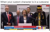 News, Break, and Forecast: When your custom character is in a cutscene  NEWS  IVE ISLINGTON  TONO  ISLINGTO  ISLINGI  SKY NEWS FORECAST  CONSERVATIVES LARGEST PART  308-328 SEATS  LAB  HOLD MANCHESTER C  TURNOUT 6 (2 58)  LAB HOLD LUTON SOUTH  17  CON HOLD DORSET SOU  TH  skynews.com  SERVATIVES IN 2015 BREAK
