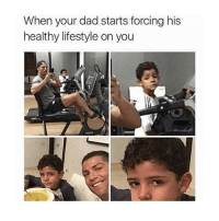 Dad, Food, and Happy: When your dad starts forcing his  healthy lifestyle on you i'm trying to diet but food makes me so happy ugh