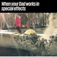 Going to the playground will never be the same again 😱🔥: When your Dad worKS In  specialeffects  ni Going to the playground will never be the same again 😱🔥