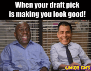 Magic Johnson | LakersGIFS Animated Laker GIFs, Laker Memes, and ...: When your draft pick  is making you look good!  CARER GIFS Magic Johnson | LakersGIFS Animated Laker GIFs, Laker Memes, and ...