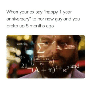 """Ayy LMAO, Lmao, and Tumblr: When your ex say """"happy 1 year  anniversary"""" to her new guy and you  broke up 8 months ago  CS  4K(1 K)  Pse  21  2 an wheel-skellington:  @beelzepuppy @sftitan ayy lmao"""