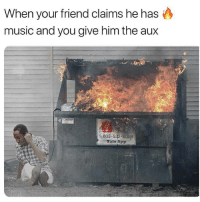 Memes, Music, and 🤖: When your friend claims he has  music and you give him the aux  1-603-532-8  Tale App