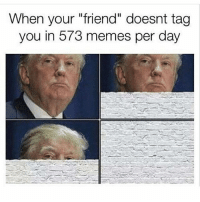 "Follow @trumpmeetstheinternet for the funniest Trump memes.: When your ""friend"" doesnt tag  you in 573 memes per day Follow @trumpmeetstheinternet for the funniest Trump memes."