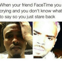 """Android, Ass, and Bad: When your friend FaceTime you  crying and you don't know what  to say so you just stare back  13 Im on my way to church when my boy Bryan texts me """" bro…""""just know whenever someone text you with multiple periods at the end of their message that means they need something from you. I avoid people like this at all times. They are full of deception. He then called me while I'm in church to tell me he got this Bad Bitch over at his crib and he tryna smash. I'm like niqqa why you calling me? Go tear that up. He replied """"I don't know bro she want me to go down on her"""". Me personally i never ate no box. The only box i ate was Kids Cuisine and even that shit was nasty. I told him go for it. he says """" Nah bruh she want me to eat the booty she not trying to fvck if i don't """" Fuck outta here i can't have a homie who eat booty. If we play ball & I waterfall some of his Gatorade that shit could be ass juice. nah I'm good. I told him face time me when he's hitting it from the back so i can send him some of my spirit energy to pull out in a timely and efficient manner. I'm on my knees ready for prayer when Bryan FaceTime' s me. I answer when I see tears in his face. He must have been overjoyed for busting the biggest load of 2015. No words were exchanged we looked into each others eyes. He whimpered to me """" bruh what is life?' I whispered back """" ball is life? """" I didn't know what he was getting at. As he shifted his face I saw brown streaks across his mouth. I assumed she must have cooked him some bomb ass jerk chicken for his face to be that brown and greasy. I whisper """" yo whats wrong"""" he said """" i ate the booty"""" I said what? to make sure the holy spirit wasn't playing with me. He said """" I ate the booty and she didn't gimme head"""" I said boy that better be the same chocolate patrick ate in the episode he and spongebob stole the balloon .He broke down on FaceTime and said nah thats """" booty sauce"""", loud enough the deaconess kneeling next to me peaked over & saw"""
