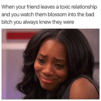 Bad Bitch, Memes, and Relationships: When your friend leaves a toxic relationship  and you watch them blossom into the bad  bitch you always knew they were yaaassss bitch yaaassss