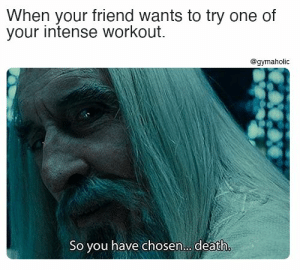 When your friend wants to try one of your intense workout.  Gymaholic App: https://www.gymaholic.co  #fitness #motivation #workout #meme #gymaholic: When your friend wants to try one of your intense workout.  Gymaholic App: https://www.gymaholic.co  #fitness #motivation #workout #meme #gymaholic