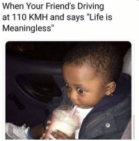 """Andrew Bogut, Driving, and Friends: When Your Friend's Driving  at 110 KMH and says """"Life is  Meaningless"""" SarcasmOnly"""