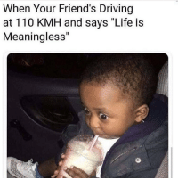 """Andrew Bogut, Driving, and Friends: When Your Friend's Driving  at 110 KMH and says """"Life is  Meaningless"""" 😳 Follow @thesassbible @thesassbible @thesassbible @thesassbible"""