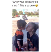 "Cute, Memes, and Too Much: ""when your girl plays too  much"" This is so cute Haha 😂 Credit: @cloooey._"