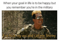 Gene Vandenham is an American hero. Repost : @decelerateyourlife @stjamesstjames @range15official: When your goal in life is to be happy but  you remember you're in the military  CD  ANDEN  Fist fuck my ass and call me Shirley Gene Vandenham is an American hero. Repost : @decelerateyourlife @stjamesstjames @range15official