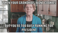 Cookies, Elizabeth Warren, and Politics: WHEN YOUR GRANDKIDS WANT COOKIES  BUT YOU'RE TOO BUSY RUNNING FOR  PRESIDENT