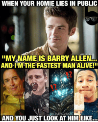 Why you always lyin', Barry? 😂 I'm actually both happy and surprised they're acknowledging that Wally becomes faster than Barry so early. I love the direction this season is going! -- Can't wait to see @keiynanlonsdale training Rocky style on next week's episode! ⚡️What do you guys think of the most recent WallyWest twist on TheFlash? Do you think he'll actually surpass @grantgust by the season finale?: WHEN YOUR HOMIE LIES IN PUBLIC  IIMYNAME IS BARRY ALLEN  ANDIIMTHE FASTEST MAN ALIVE! I  IGIBLERDVISION  AND YOU JUST LOOK AT HIM LIKE... Why you always lyin', Barry? 😂 I'm actually both happy and surprised they're acknowledging that Wally becomes faster than Barry so early. I love the direction this season is going! -- Can't wait to see @keiynanlonsdale training Rocky style on next week's episode! ⚡️What do you guys think of the most recent WallyWest twist on TheFlash? Do you think he'll actually surpass @grantgust by the season finale?