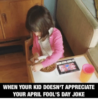 This might be my finest parenting moment. Don't worry. She recovered quickly and helped pour salt in Daddy's coffee. Ripped straight from my @mommyshorts instastory 🤗 aprilfoolsday averageparentproblems: WHEN YOUR KID DOESNIT APPRECIATE  YOUR APRIL FOOLIS DAY JOKE This might be my finest parenting moment. Don't worry. She recovered quickly and helped pour salt in Daddy's coffee. Ripped straight from my @mommyshorts instastory 🤗 aprilfoolsday averageparentproblems