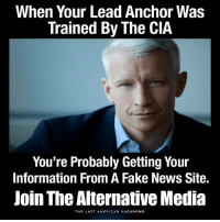 Learn More: https://www.youtube.com/watch?v=kwMCIe2AGW8 Check Out: http://www.thelastamericanvagabond.com/: When Your Lead Anchor Was  Trained By The CIA  You're Probably Getting Your  Information From A Fake News Site.  Join The Alternative Media  THE LAST A MERICAN VAGABOND Learn More: https://www.youtube.com/watch?v=kwMCIe2AGW8 Check Out: http://www.thelastamericanvagabond.com/