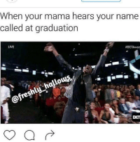 <p>THAT&rsquo;S MY BABY!!!! (via /r/BlackPeopleTwitter)</p>: When your mama hears your name  called at graduation  LIVE  #BETAwar  hlu  BET <p>THAT&rsquo;S MY BABY!!!! (via /r/BlackPeopleTwitter)</p>