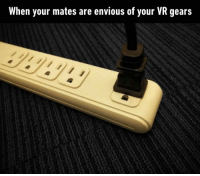 9gag, Dank, and Gaming: When your mates are envious of your VR gears When you get impaled in your eyesockets and everyone is mortified. 👀 https://9gag.com/gag/ayx11bM/sc/gaming?ref=fbpic