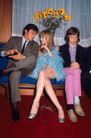 Party, Girlfriend, and Mick Jagger: When your Mick Jagger and take your Girlfriend to a party. But then comes Alain Delon...