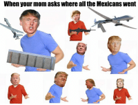 Dankest Meme I've ever made.: When your mom asks where all the Mexicans Went Dankest Meme I've ever made.