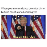 Conservative, Usa, and Page: When your mom calls you down for dinner  but she hasn't started cooking yet  You are fake news Doesn't apply to me but still funny 😂😂😂 trumpmemes liberals libbys democraps liberallogic liberal ccw247 conservative constitution presidenttrump resist stupidliberals merica america stupiddemocrats donaldtrump trump2016 patriot trump yeeyee presidentdonaldtrump draintheswamp makeamericagreatagain trumptrain maga Add me on Snapchat and get to know me. Don't be a stranger: thetypicallibby Partners: @theunapologeticpatriot 🇺🇸 @too_savage_for_democrats 🐍 @thelastgreatstand 🇺🇸 @always.right 🐘 @keepamerica.usa ☠️ TURN ON POST NOTIFICATIONS! Make sure to check out our joint Facebook - Right Wing Savages Joint Instagram - @rightwingsavages Joint Twitter - @wethreesavages Follow my backup page: @the_typical_liberal_backup