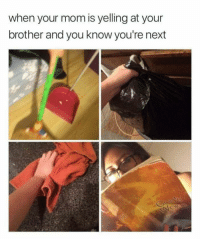 """Memes, Mom, and Brother: when your mom is yelling at your  brother and you know you're next <p>Well prepared sibling via /r/memes <a href=""""https://ift.tt/2uKn7aG"""">https://ift.tt/2uKn7aG</a></p>"""