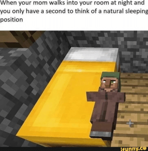 Fresh, Memes, and Minecraft: When your mom walks into your room at night and  you only have a second to think of a natural sleeping  position  ifunny.co W en your mom wa s into your room at nig t an you only have a second to think of a natural sleepin position – popular memes on the site iFunny.co #minecraft #gaming #minecraft #featureworthy #fresh #sleeping #position #en #mom #wa #room #nig #only #second #think #natural #sleepin #pic