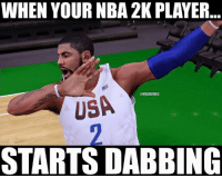 NBA 2K17 is gonna be lit 🔥🔥🔥: WHEN YOUR NBA 2K PLAYER  @NBAMEMES  USA  STARTS DABBING NBA 2K17 is gonna be lit 🔥🔥🔥