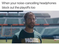 Nfl, Headphones, and Packer: When your noise-cancelling headphones  block out the playoffs too  PACKER