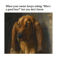 "Good, Classical Art, and Asking: When your owner keeps asking ""Who's  a good boy?"" but you don't know Who's the good boy"