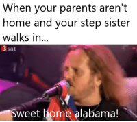 Memes, Parents, and Alabama: When your parents aren't  home and your step sister  walks in...  3 sat  Sweet home alabama! Much american via /r/memes https://ift.tt/2zU9o0V
