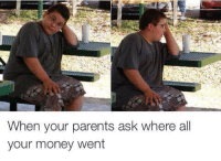 Funny Money Pictures: When your parents ask where all  your money went