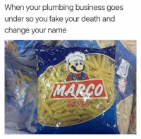 Fake, Tumblr, and Blog: When your plumbing business goes  under so you fake your death and  change your name shitmemesforshitteens:it's a me, marco