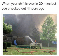 Memes, Sorry, and Purple: When your shift is over in 20 mins but  you checked out 4 hours ago  The.purple.sock Sorry bossman, not feeling it today