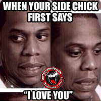 """instacomedy insta_comedy: WHEN YOUR SIDE CHICK  FIRST SAYS  medyco  TO  ansta  """"I LOVE YOU"""" instacomedy insta_comedy"""