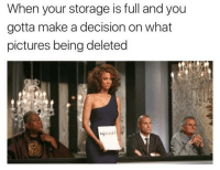 When your storage is full and you  gotta make a decision on what  pictures being deleted we've made a very difficult decision