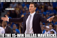 What Luke Walton had to say after the game: bit.ly/LukeWaltonWorstLakerLoss: WHEN YOUR TEAM SUFFERS THE WORST LOSS IN FRANCHISE HISTORY  @NBAMEMES  TO THE 15-WIN DALLAS MAVERICKS What Luke Walton had to say after the game: bit.ly/LukeWaltonWorstLakerLoss
