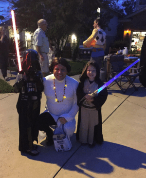 Halloween, Princess Leia, and Kids: When your wife got sick on Halloween but your kids really want princess Leia to go with them