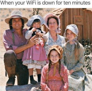 Time, Wifi, and Down: When your WiFi is down for ten minutes time to churn some butter