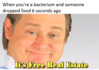 """<p>5 second rule via /r/memes <a href=""""https://ift.tt/2JMkWWR"""">https://ift.tt/2JMkWWR</a></p>: When you're a bacterium and someone  dropped food 6 seconds ago <p>5 second rule via /r/memes <a href=""""https://ift.tt/2JMkWWR"""">https://ift.tt/2JMkWWR</a></p>"""
