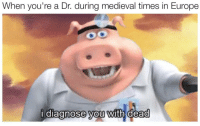 Europe, Medieval, and Job: When you're a Dr. during medieval times in Europe  i diagnose you with dead  0  0 <p>Easiest job</p>