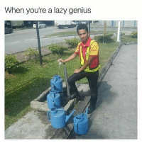 Lazy: When you're a lazy genius