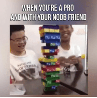 noobness: WHEN YOU'RE A PRO  AND WITH YOUR NOOB FRIEND  ru ru