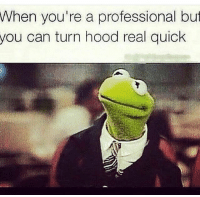 0 to 100, Memes, and 🤖: When you're a professional but  you can turn hood real quick 0 to 100 real quick